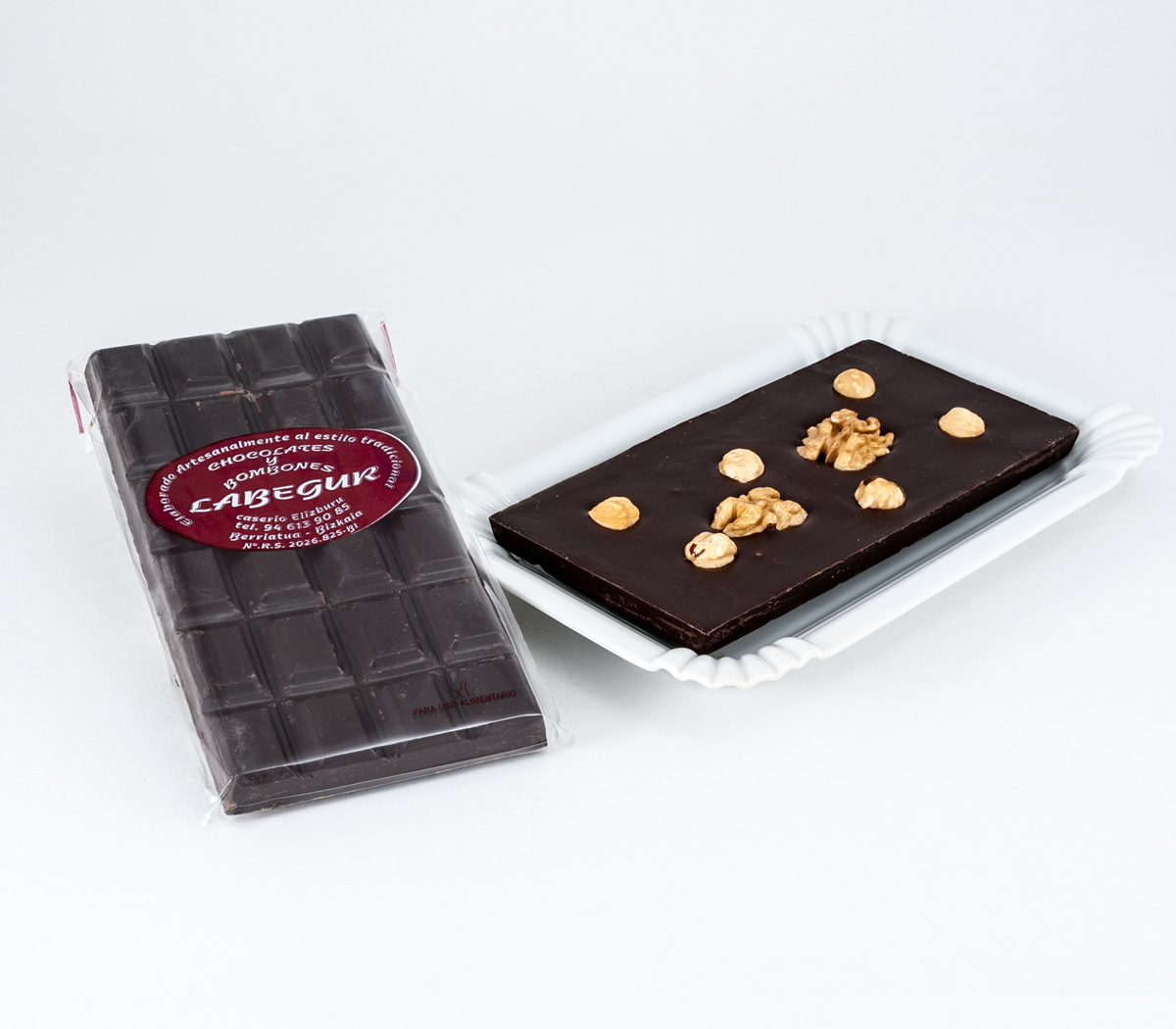 TABLETA CHOCOLATE CON FRUTOS SECOS LABEGUR