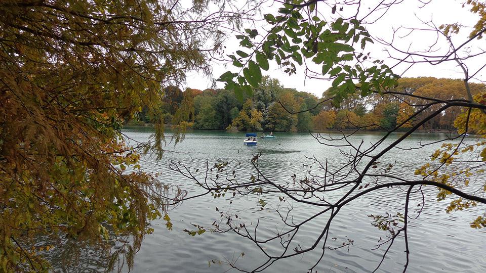 Le parc de la tête d'or à Lyon