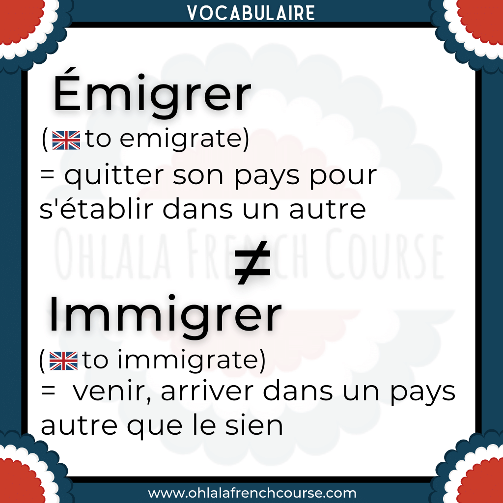Vocabulaire de l'expatriation en français