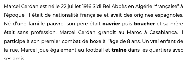 Listening comprehension in French: Marcel Cerdan: French boxing champion and Édith Piaf's lover