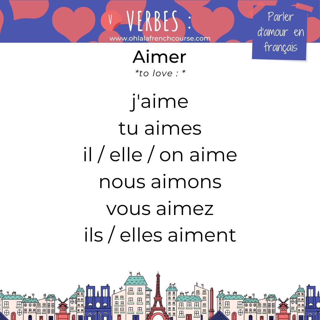 Le verbe aimer en français