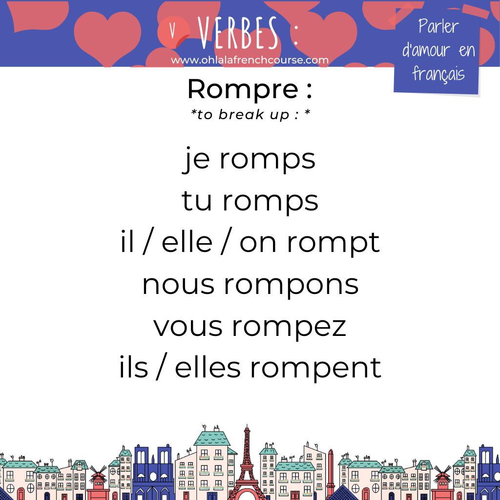 Le verbe rompre en français