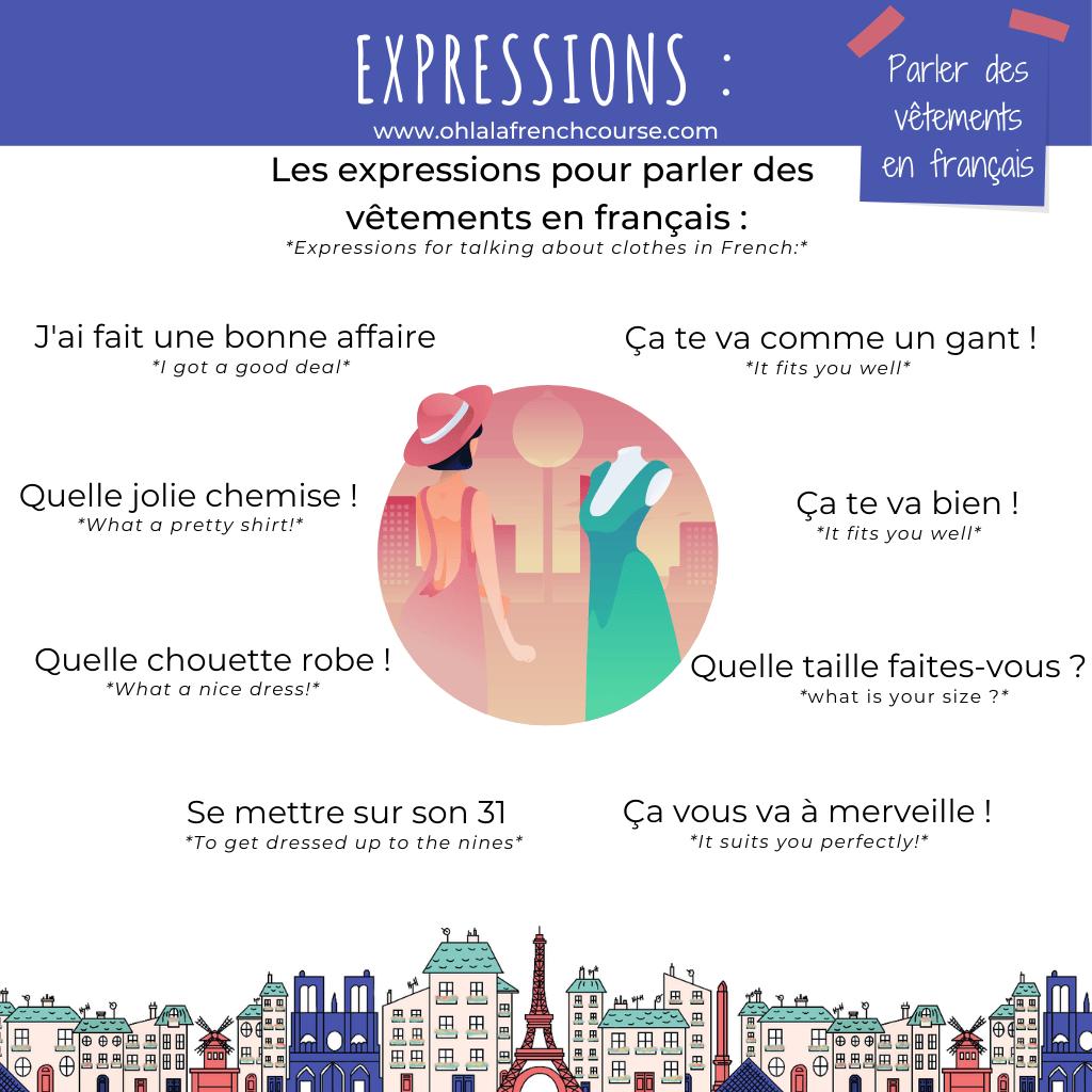 Les expressions pour parler des vêtements en français