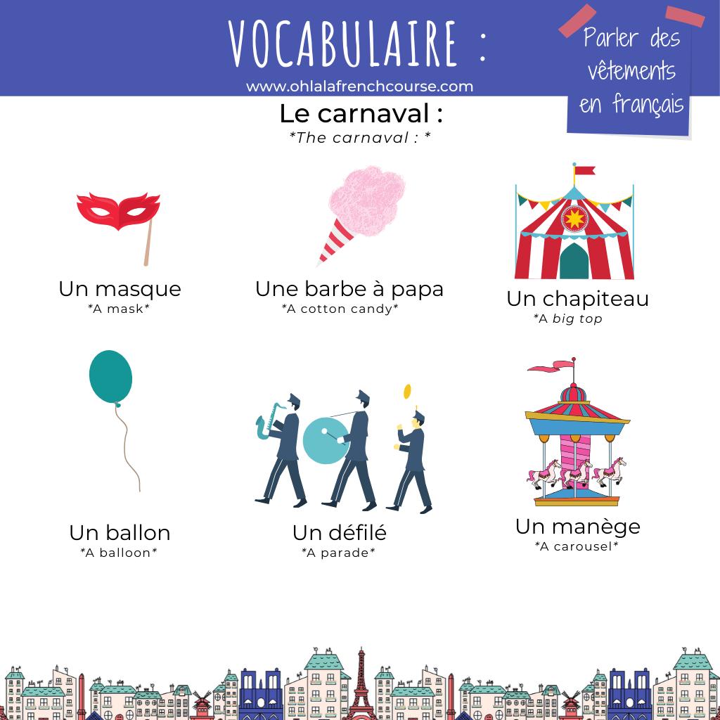 Le carnaval en français