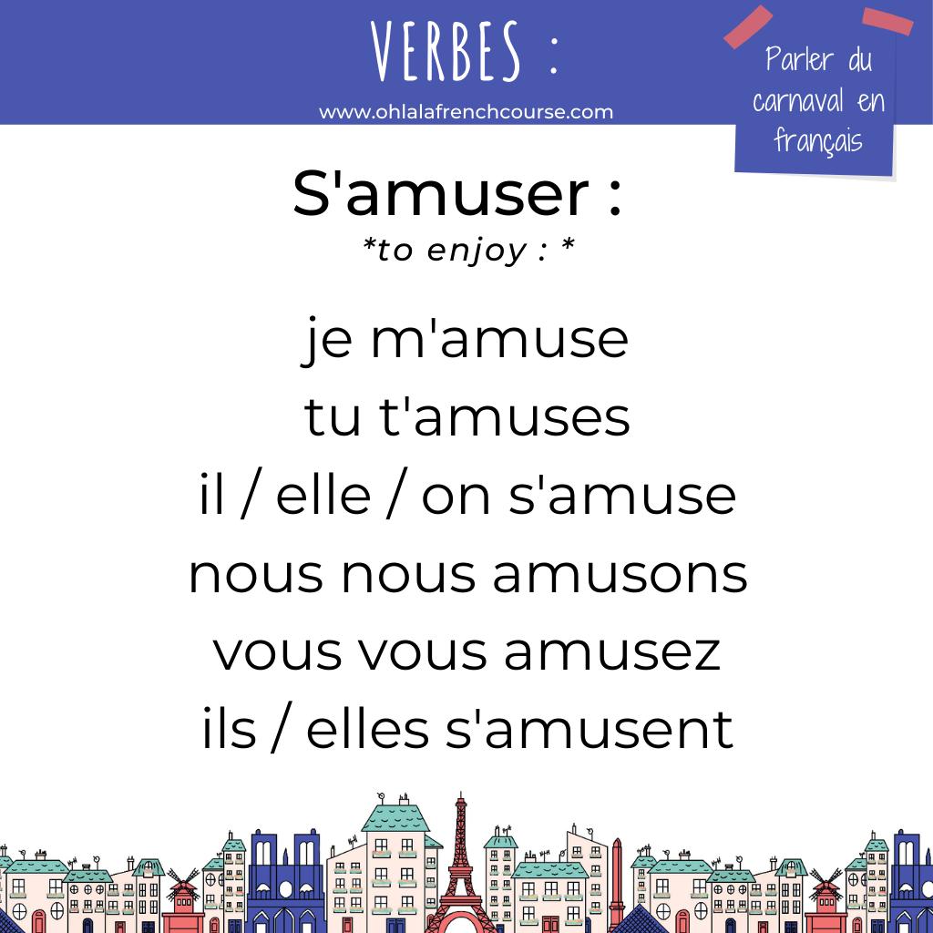S'amuser en français