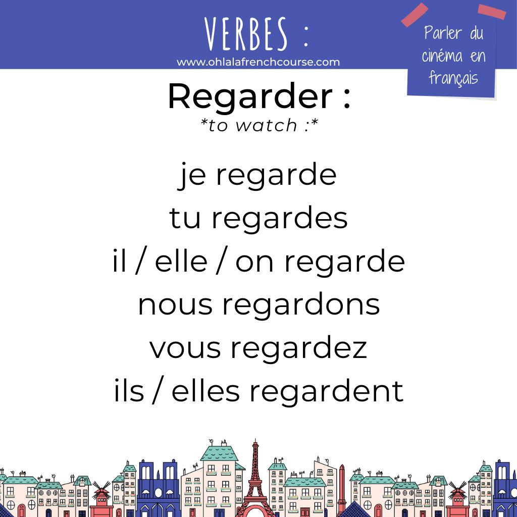Le verbe regarder en français