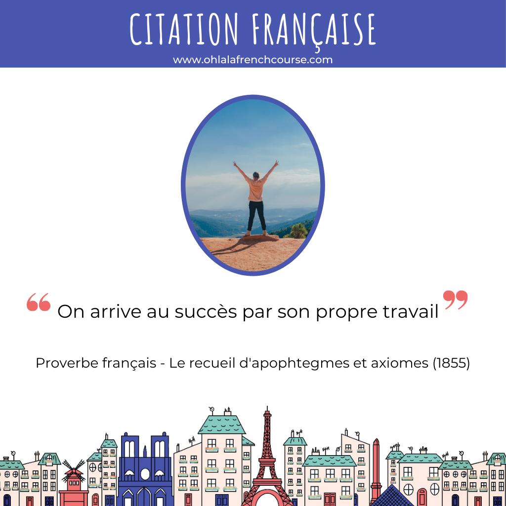 Citation française sur le travail