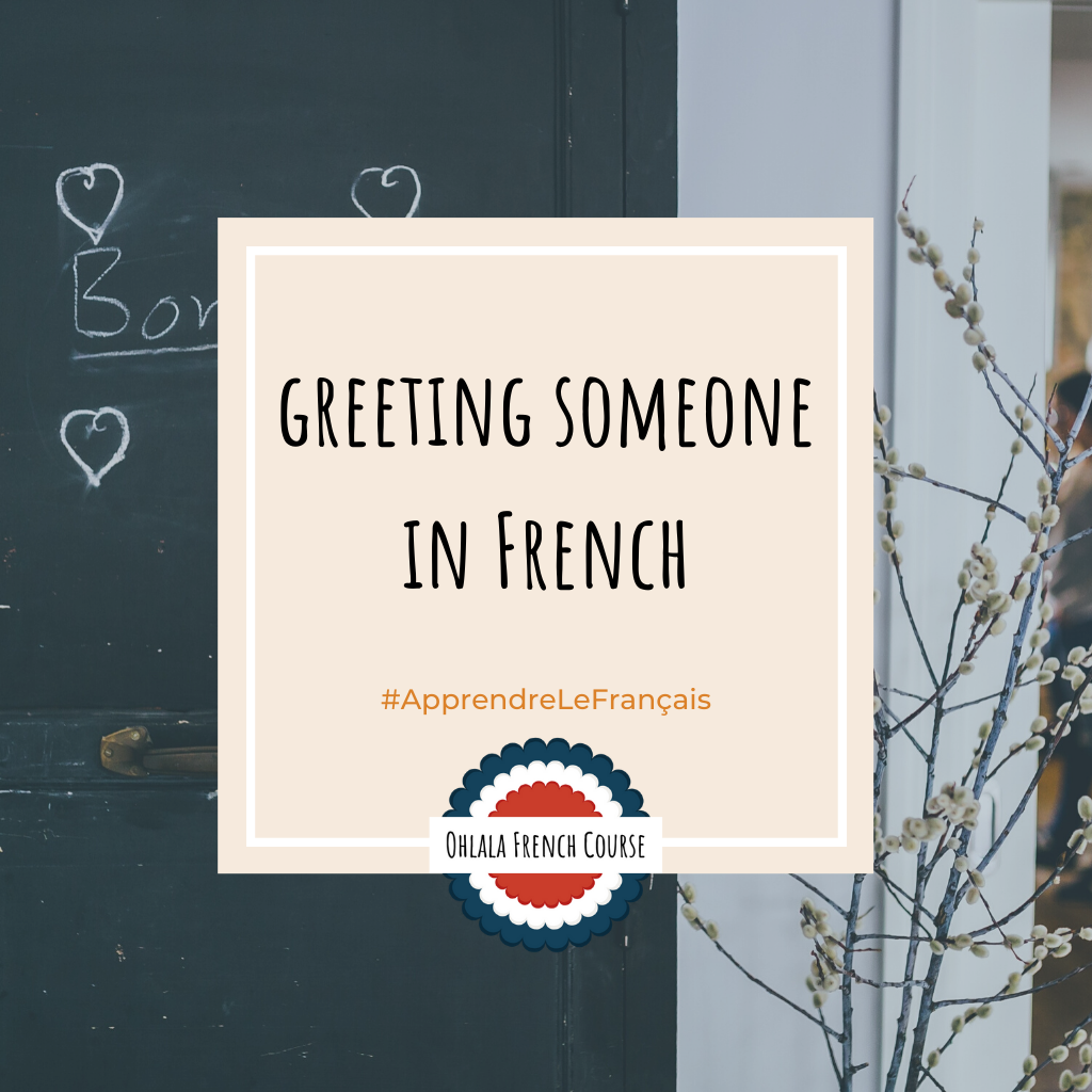 Image Pinterest Say hello to someone in French