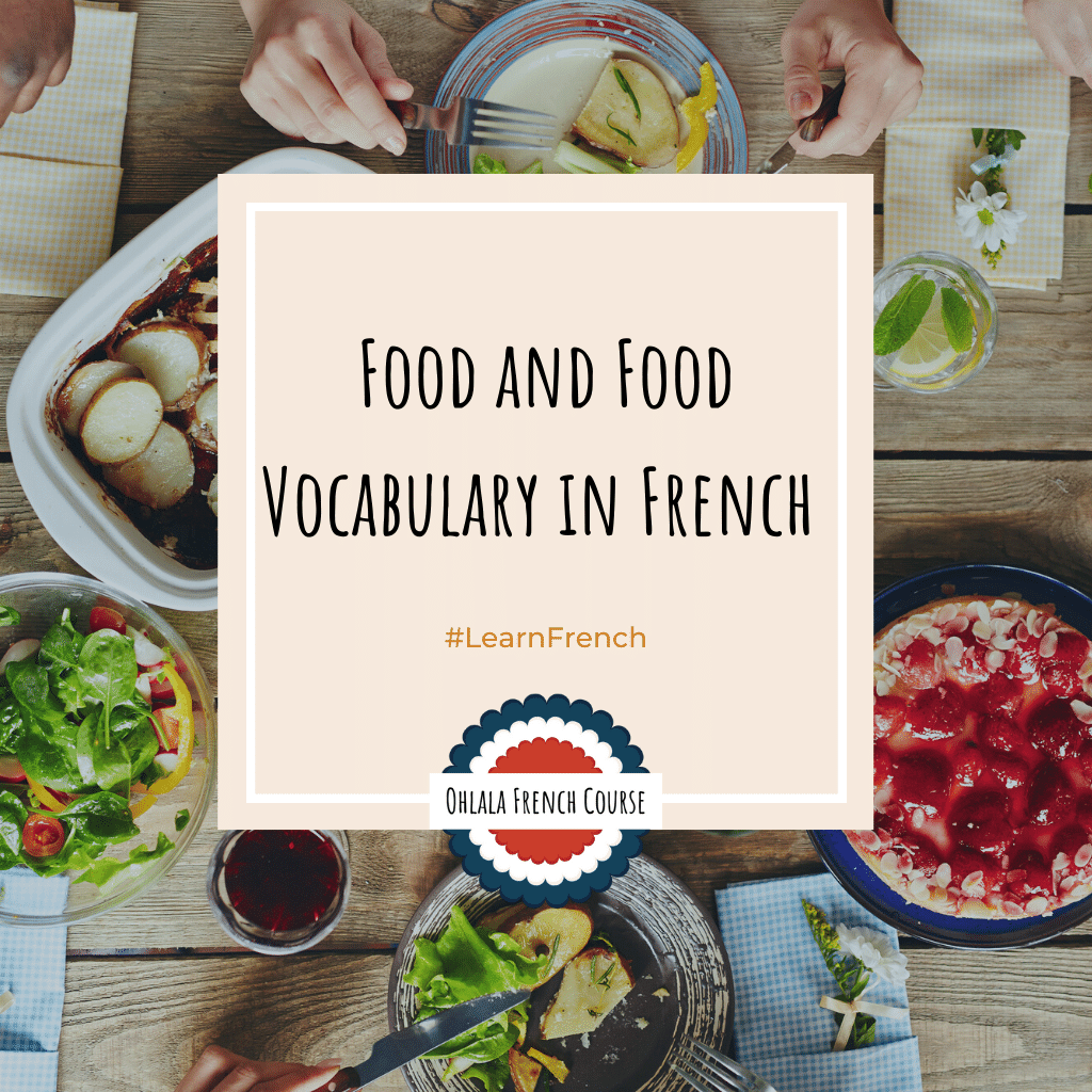 The vocabulary of food and eating