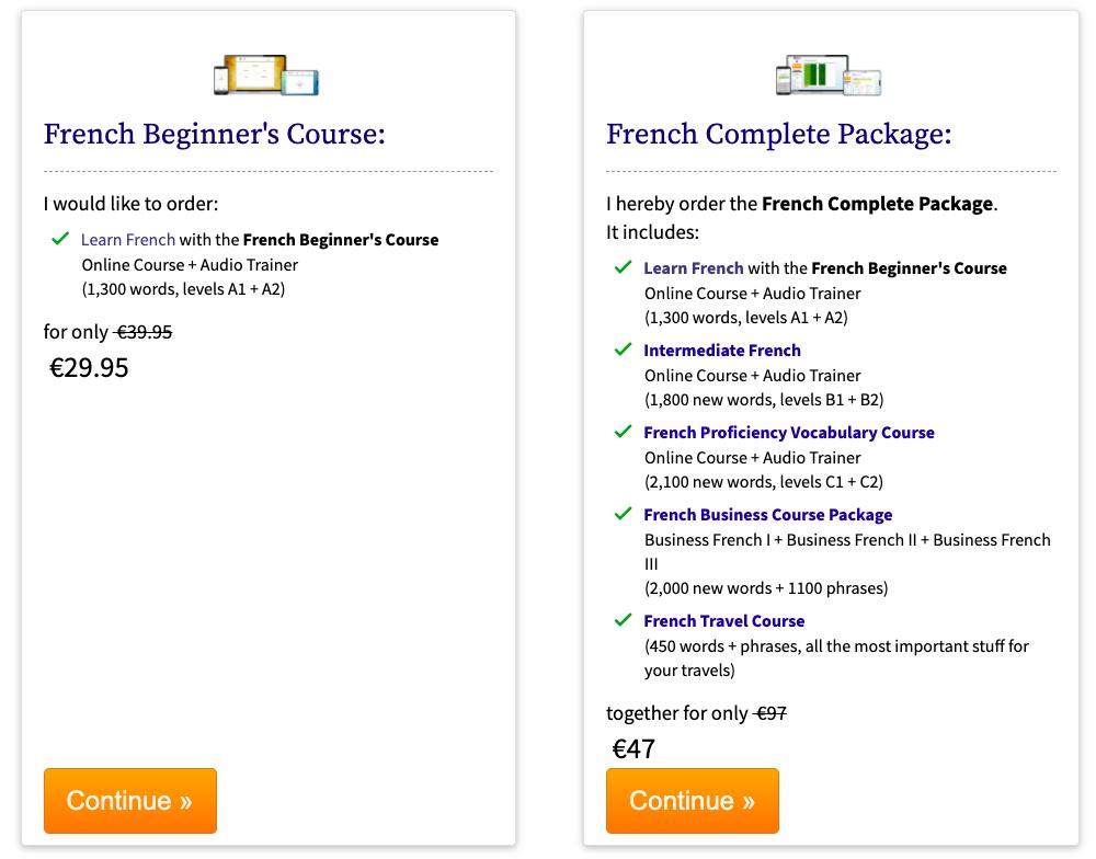 Apprenez le français avec 17-minutes-languages