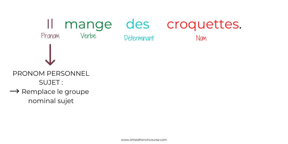 Illustration de la fonction pronom en français