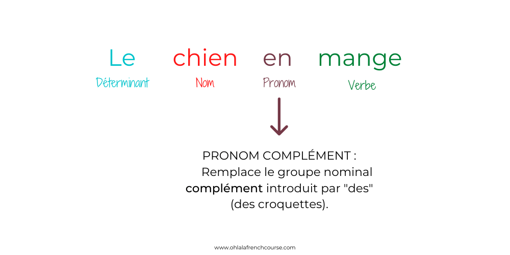Illustration de la fonction pronom complément en français