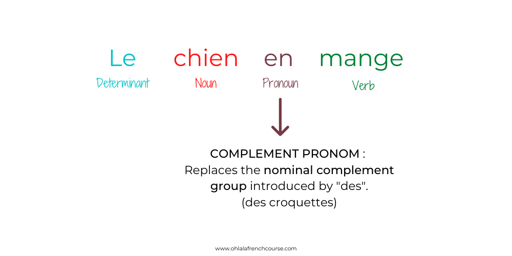 Illustration of the complement pronoun function in French