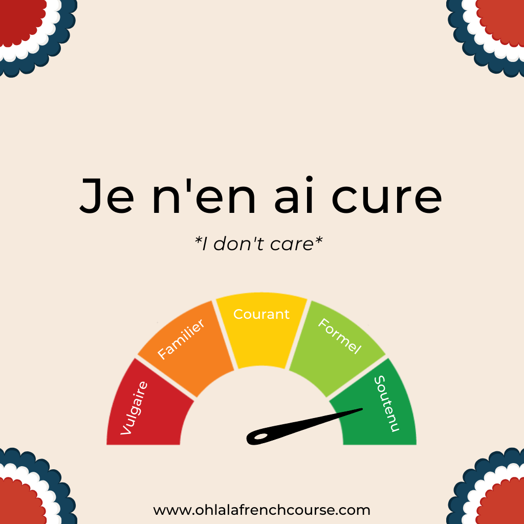Je n'en ai cure - sustained language