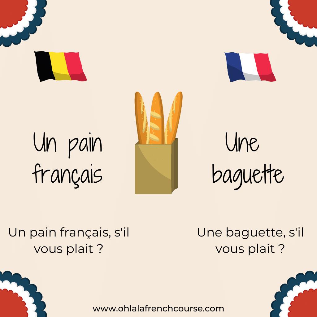 Un pain français l Une baguette