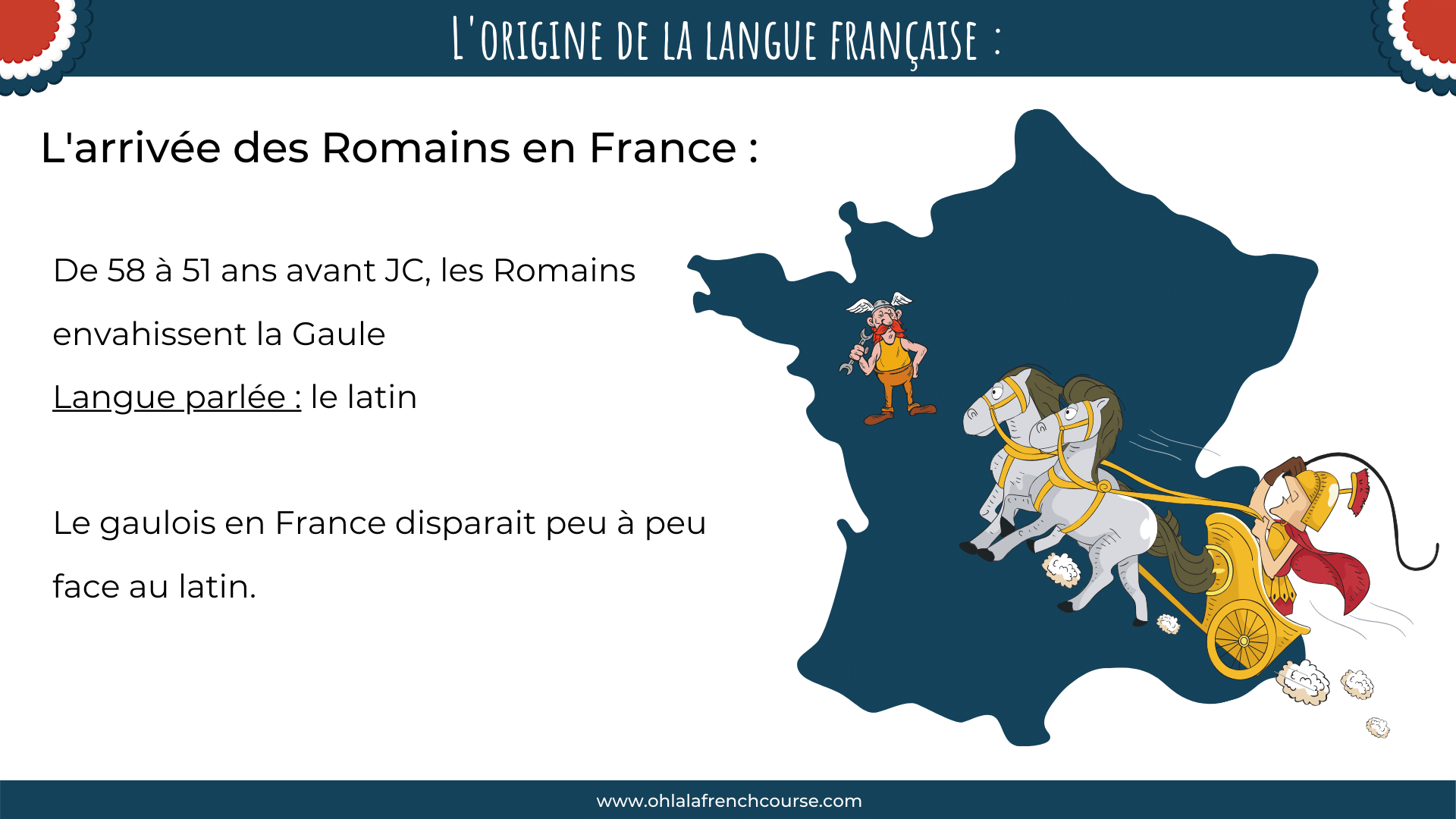 The arrival of the Romans in France