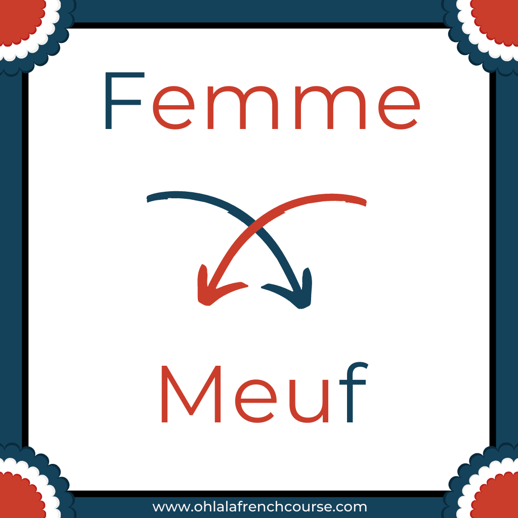 Meuf is the verlan of the word femme