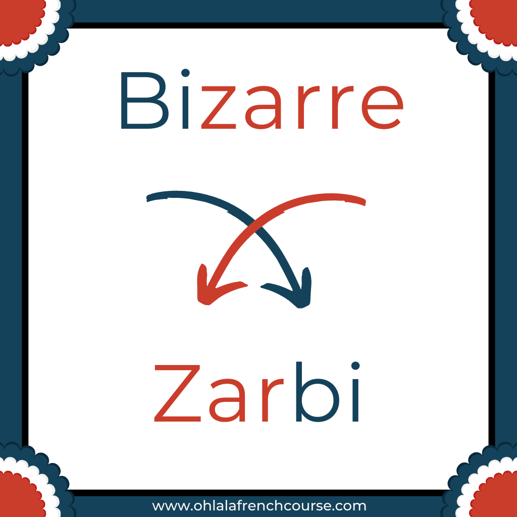 Zarbi is the verlan of the word bizarre