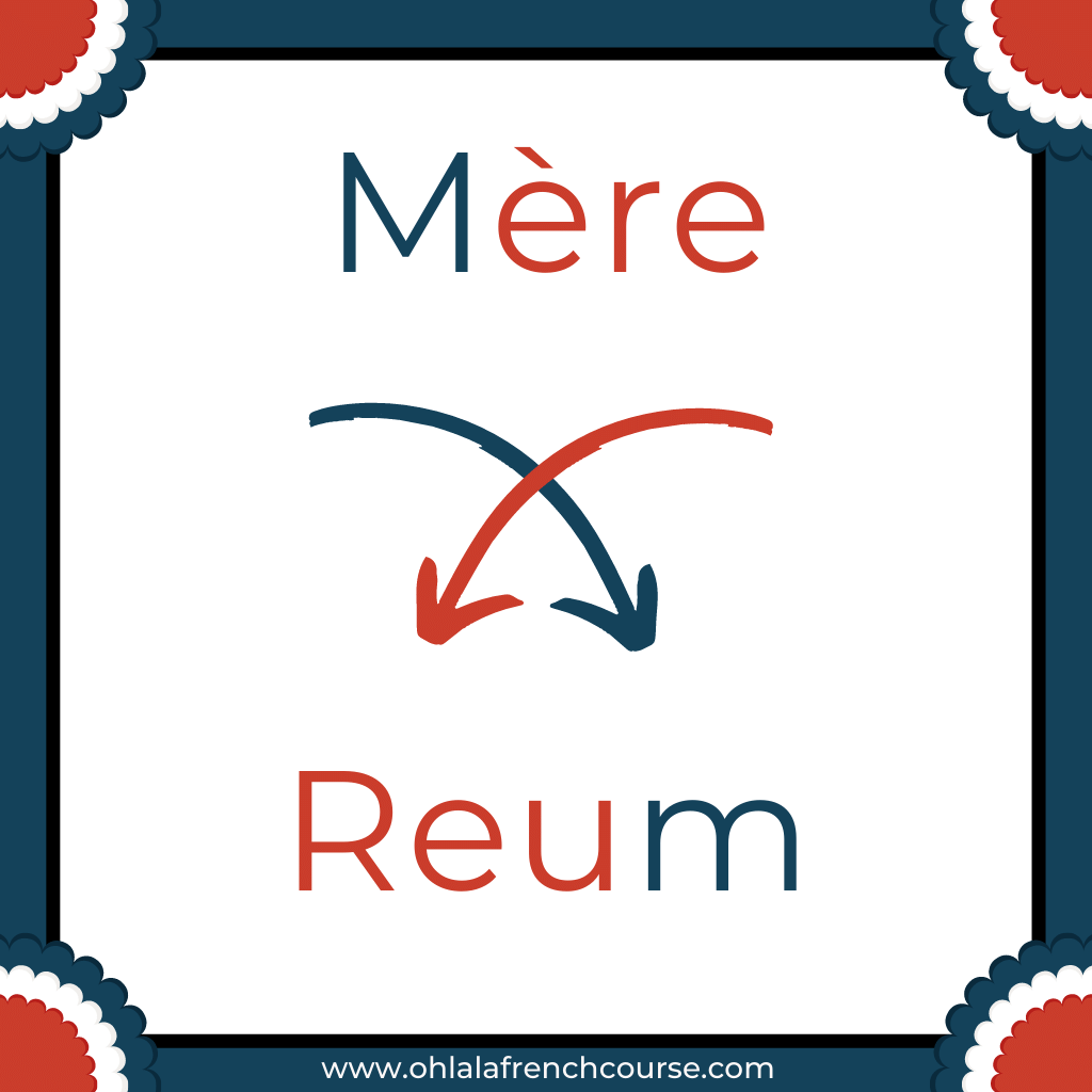 Reum is the verlan of the word mère