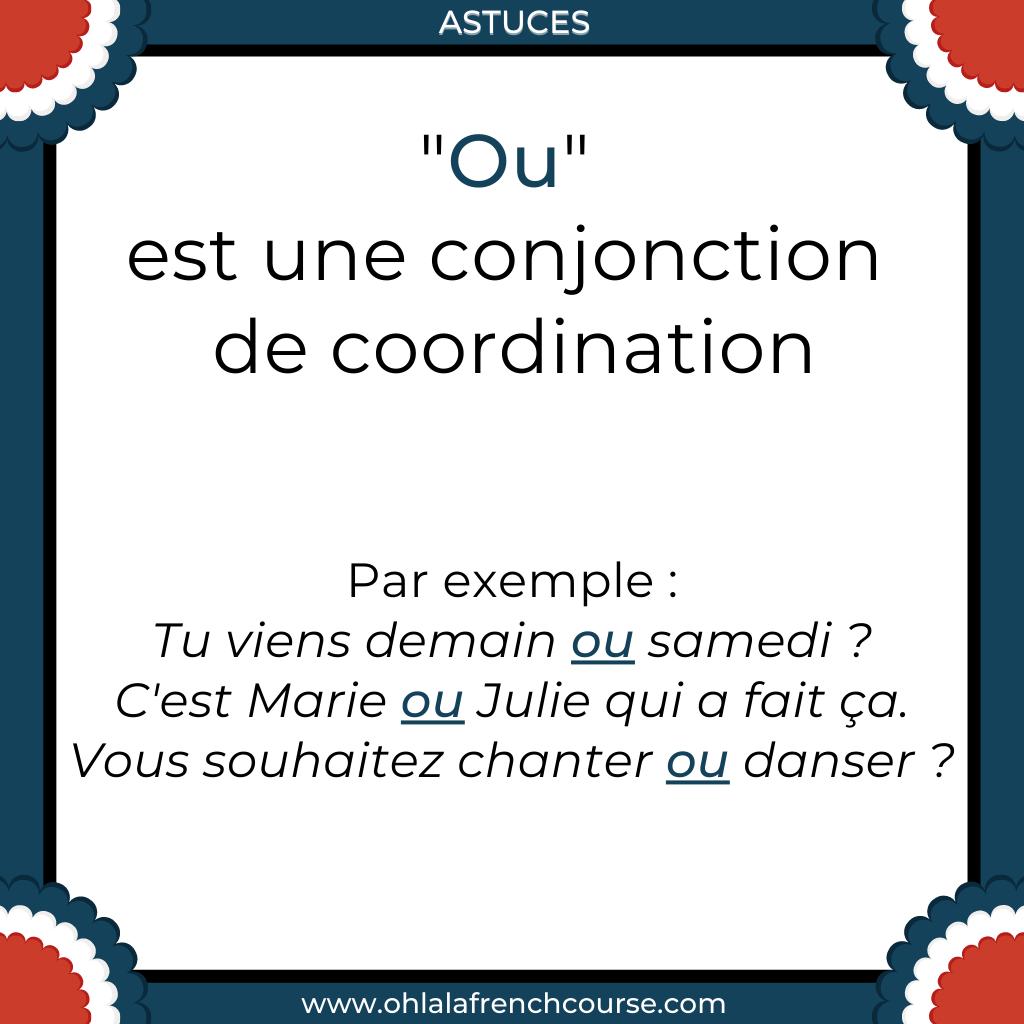 """Que représente """"ou"""" en français ?"""