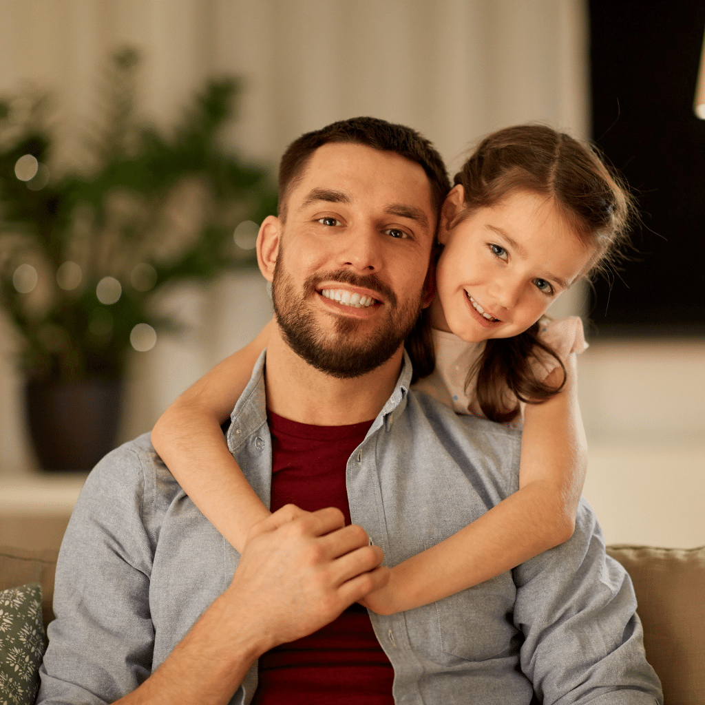 Single-parent family: a parent with one or more children, living under the same roof