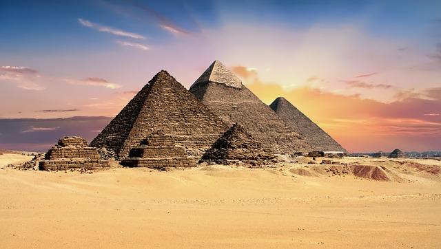 Photo des pyramides d'Égypte