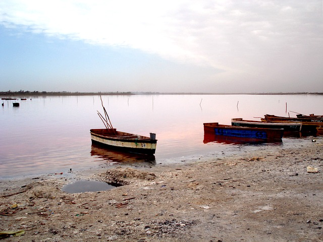 Photo de barques au Sénégal