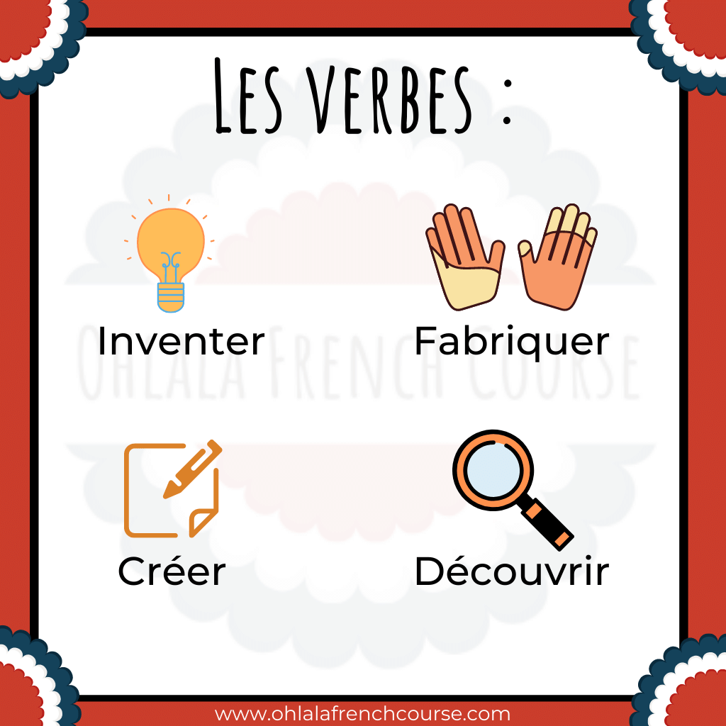Vocabulary - French verbs - Science and technology