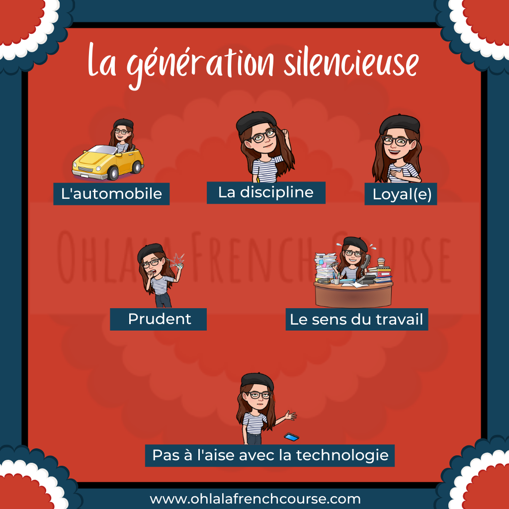 Vocabulary of the silent generation in French