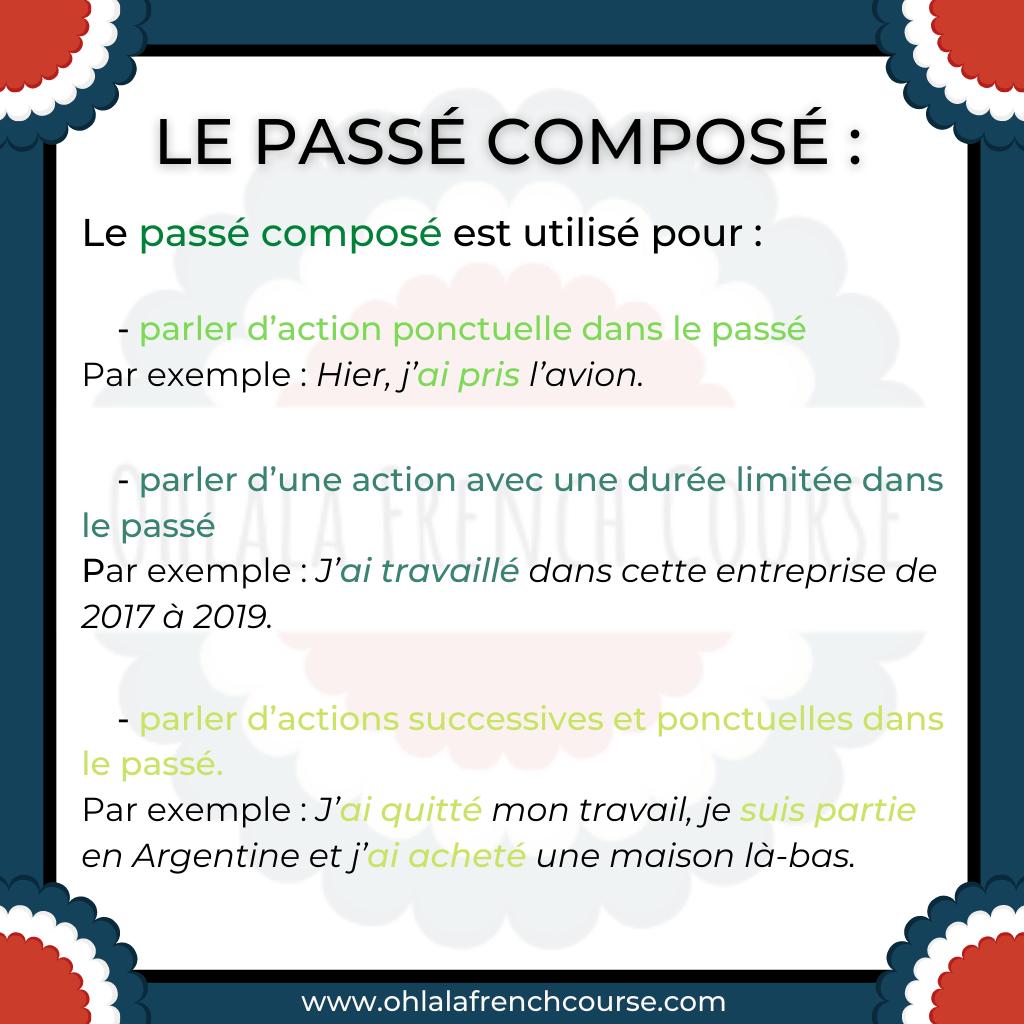 How to use the passé composé ?
