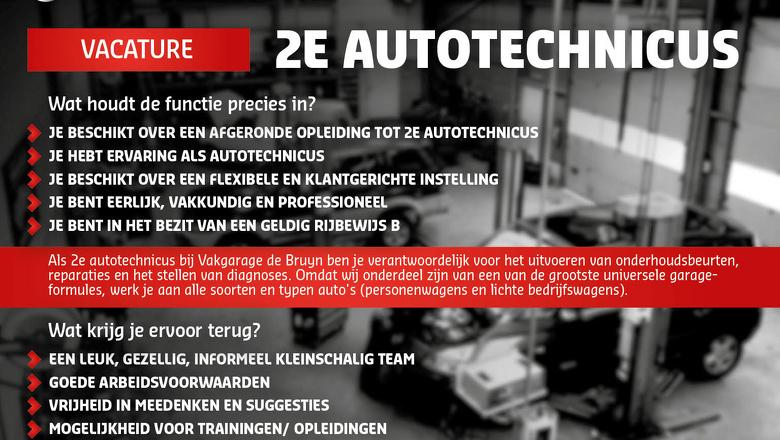 Wij zoeken een 2e Autotechnicus!