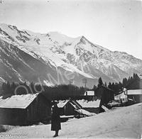 Mont-Blanc vu de près de Chamonix