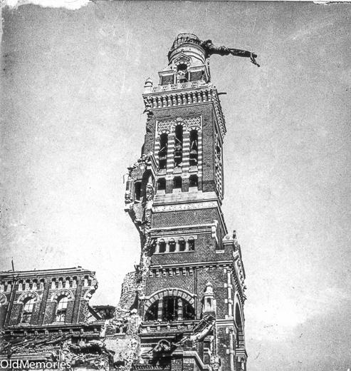 Le clocher de Notre Dame de Brébières