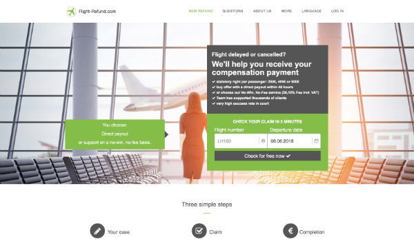 The flight refund website.