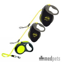 Flexi Gurt-Leine Neon - Tape Leash