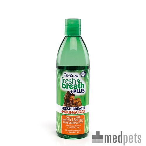Produktbild von TropiClean - Fresh Breath Plus Skin & Coat Water Additive