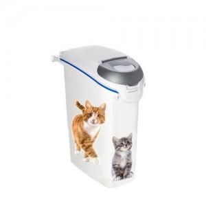 Curver kattengritcontainer opdruk kat wit-blauw