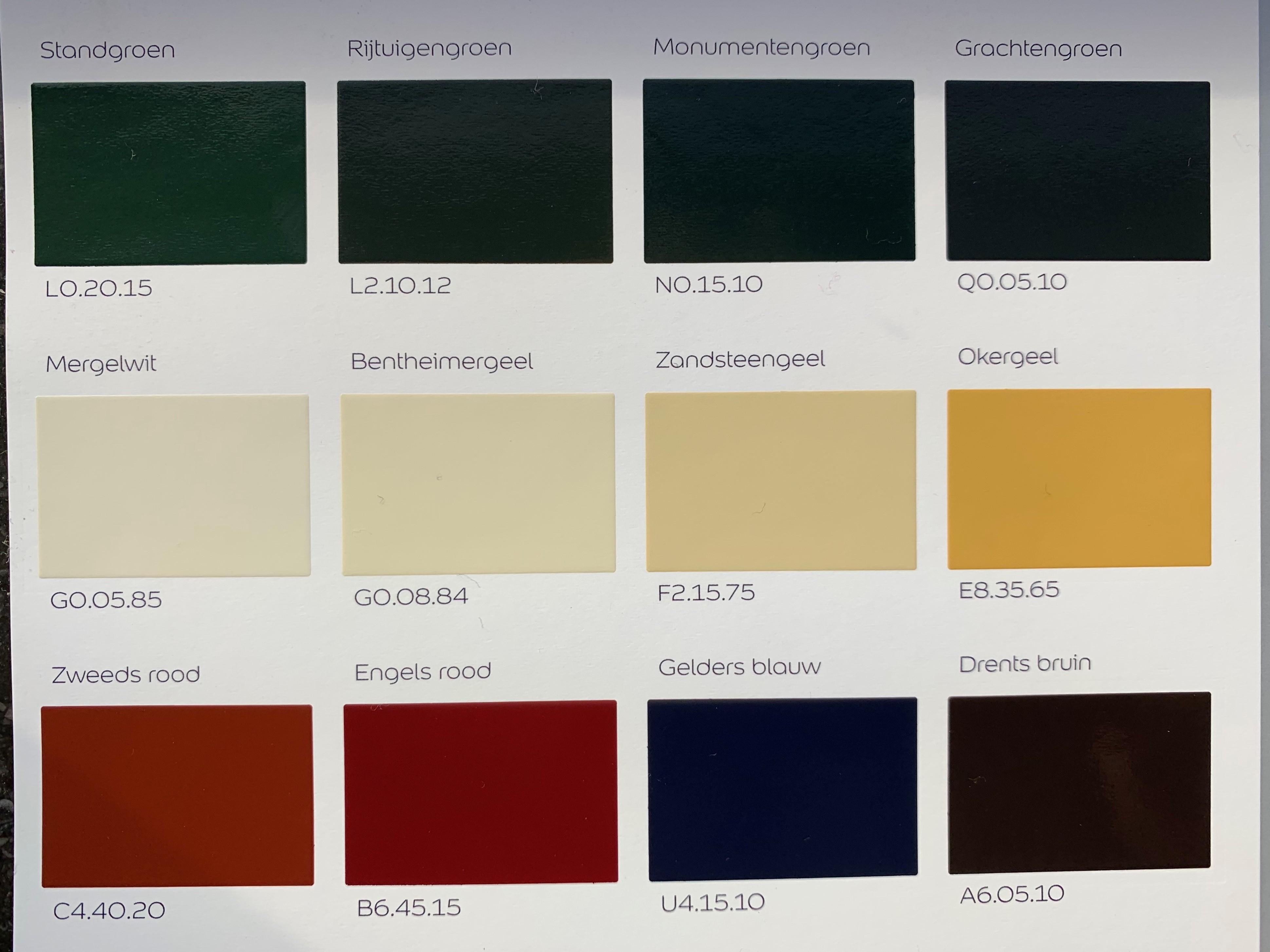 Wonderbaarlijk Kleurencombinaties voor je buitenschilderwerk | Onlineverf.nl AQ-18