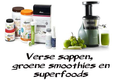 Sappen, groene smoothies en superfoods voor ontzuren en ontslakken van het lichaam