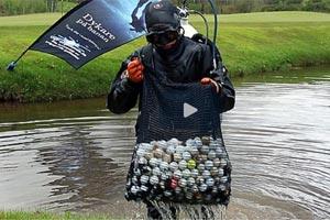 Senaste nytt: reportage om golfbollsdykning