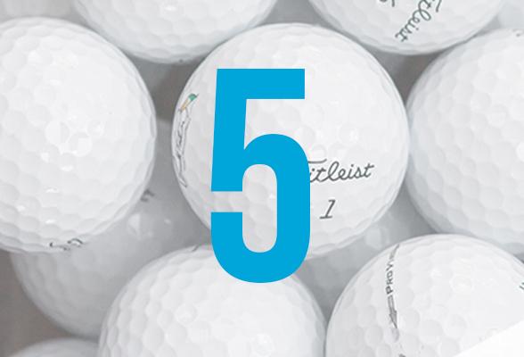 5 grunde til att købe brugte golfbolde