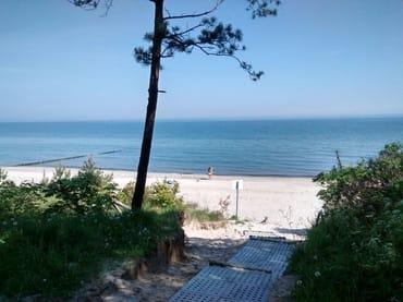 Strand vor dem Zempiner Campingplatz