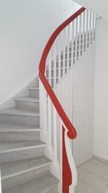 Die Treppe ins 1. OG