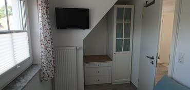 """2. Zimmer mit  LED-TV 24"""" und Fliegengitter"""