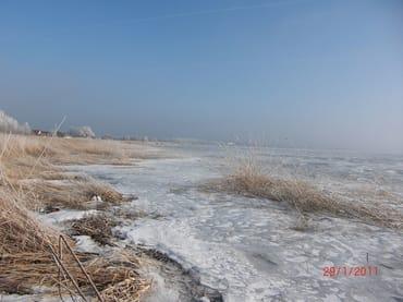 Achterwasser im Winter