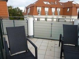 Der Balkon mit Blick zur Ostsee