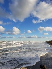 gefrorener Ostseestrand