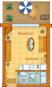 Grundriss Erdgeschoss mit Terrasse