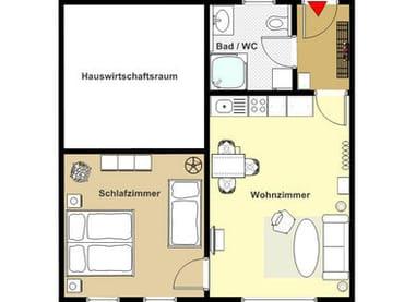 alle Zimmer liegen auf einer Ebene