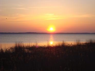 Sonnenuntergang auf dem Achterwasser